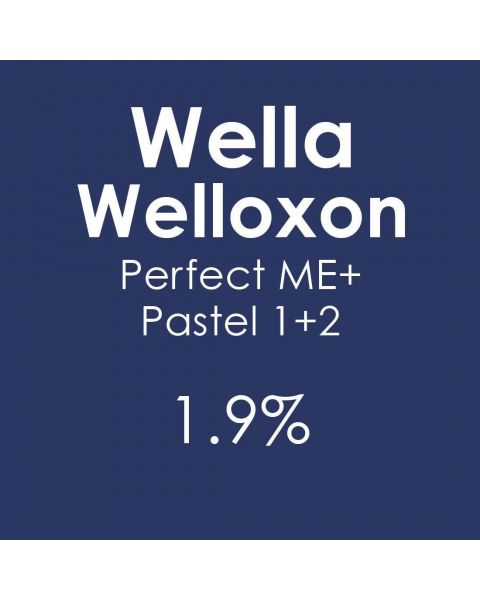 New Wella Welloxon Perfect Pastel 1+2 1.9% Developer