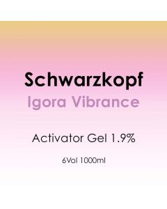 Schwarzkopf Igora Vibrance Activator Gel 1.9% - 6 Vol. 1000ml