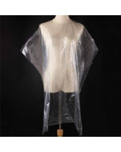 value plastic gown/poncho clear pk 100