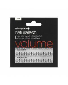 Salon System - Naturalash Individual Lash Volume Black Long