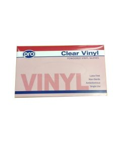 Vinyl Powdered Gloves Medium