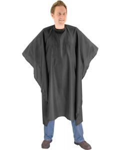 Cape with popper fastening