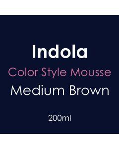 Indola Color Style Mousse 200ml - Medium Brown