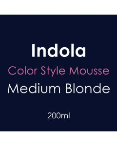 Indola Color Style Mousse 200ml - Medium Blonde