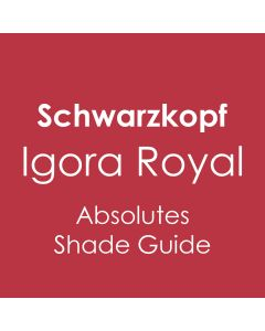Schwarzkopf Igora Royal Absolutes Shade Guide