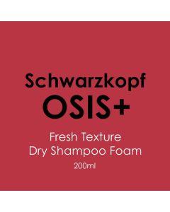 Schwarzkopf Osis+ Fresh Texture - Dry Shampoo Foam 200ml