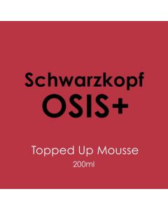 Schwarzkopf Osis+ Topped Up Mousse 200ml