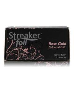 Streaker Rose Gold Wide Hairdressing Foil 12cm x 100m