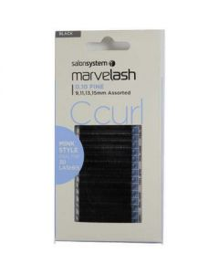 Salon System Marvelash C Curl Lash Extensions 0.10 Assorted - Mink Style