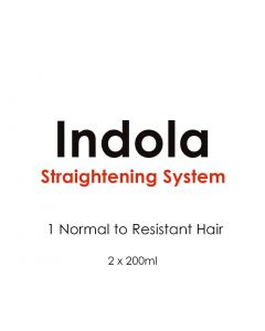 Indola Silkstraight Straightening System 1 Normal to Resistant 2x200ml