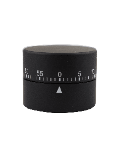Soft Touch Mechanical Timer - Black
